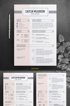 Caitlion Wilkinson Resume Template ---CLICK IMAGE FOR MORE--- resume how to write a resume resume tips resume examples for student Resume Layout, Resume Tips, Resume Cv, Resume Fonts, Resume Skills, Modern Resume Template, Cv Template, Teacher Resume Template, Creation Cv