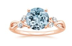 Trending: Aquamarine and Rose Gold Engagement Rings | Brilliant Earth