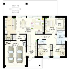 My House Plans, Facade House, Planer, Ideas Para, Bungalow, Tiny House, New Homes, Floor Plans, Cottage