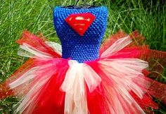 Super Hero Tutu Dress Costume for Little Girls and Toddlers on Etsy, $35.00