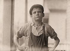 "Furman Owens, 12-years-old. Can't read. Doesn't know his A,B,C's. Said, ""Yes I want to learn but can't when I work all the time."" Been in the mills 4 years, 3 years in the Olympia Mill. Columbia, South Carolina. Next time your kids think they work hard,..give them a history lesson, on how life was."
