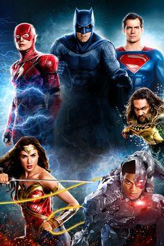 "Wallpaper for ""Justice League"" Justice League Poster 2017, Justice League Comics, Dc Comics Heroes, Dc Comics Characters, Dc Comics Art, Akatsuki, Wallpaper Bonitos, Superhero Poster, Dc Movies"