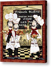 French Chefs-bistro by Jean Plout - French Chefs-bistro Painting - French Chefs-bistro Fine Art Prints and Posters for Sale