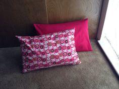 Set of 2 pillows pink and floral by artforlittleloves on Etsy, $28.50