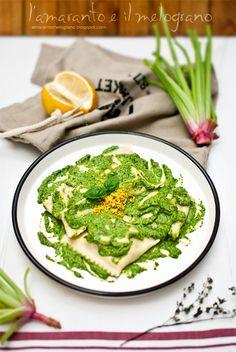 L'amaranto e il melograno: Ravioli con pesto di rucola ed erbe aromatiche al ...