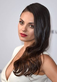 Pout Your Lips Pretty with My Faves For This Season. Mila Kunis. Dark red lipstick.