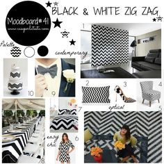 My moodboard on wednesday: black & white chevron