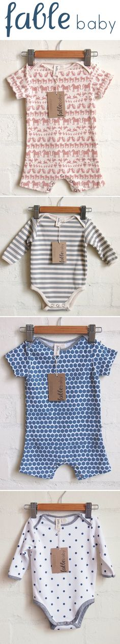 Cutest baby clothes from Fable Baby.
