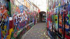 Graffiti street (Ghent, Belgium)