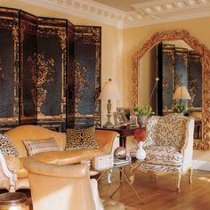 Bunny Williams designed yellow living room!