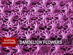 Dandelion knitting stitch pattern