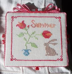 Stitcher: Stitchers Anon  - Design: The Snowflower Diaries: Tulips With Bunny 2013 (with some modification: Spring is Summer here and it looks awesome!:-)