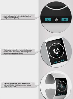 Making A Smart Call The Smart Call is a … you guessed it … SmartWatch Concept, aimed at helping the speech and hearing impaired folks to lead a technologically-smarter life. The watch is designed to alert the wearer of incoming calls and pair with a Bluetooth and GPS enabled mobile phone and work in sync. The device can be used between two impaired users or between one impaired and one non-impaired user, for easy communication. An interesting concept