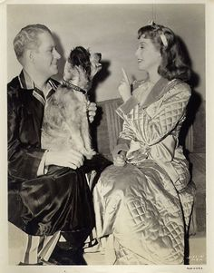Jeanette MacDonald and Nelson Eddy - on the set of I Married An Angel