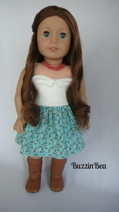 Hibiscus Petal Dress American Girl Doll Clothes by BuzzinBea