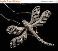 Boxing Day Sale Gorgeous Large Kenneth Jay Lane Clear Rhinestone Dragonfly Brooch by SilentWhisperVintage on Etsy https://www.etsy.com/listing/486228166/boxing-day-sale-gorgeous-large-kenneth