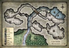 LOST MINE OF PHANDELVER - Player - Map of Cragmaw Hideout