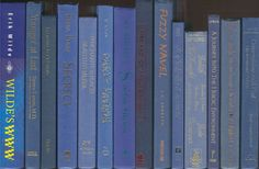 Shades of Blue Books, Big shelf-filler set of 14 books, Medium Blue Navy Blue Dark Blue Decor for library wedding office photo prop staging by CalhounBookStore on Etsy