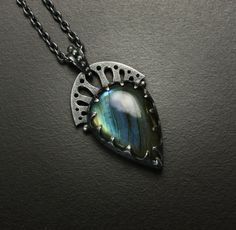 Labradorite with anarch pendant by KAZNESQ on Etsy, $270.00