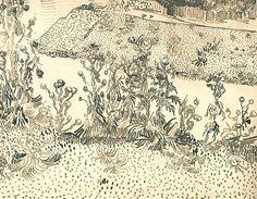 Vincent van Gogh: Thistles Along the Roadside,  Arles: c. 13 August 1888 (Amsterdam, Van Gogh Museum)   F 1466, JH 1552