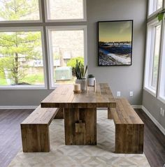Emmerson® Reclaimed Wood Dining Bench - Stone Gray in 2019 Reclaimed Wood Dining Table, Dining Table With Bench, Dining Table Design, Dining Room Table, Dining Area, West Elm Dining Table, Wood Table, Esstisch Design, Kitchen Table Makeover