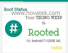 How to root the Tecno WX3P