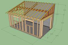 Plans of Woodworking Diy Projects Garage Design, Roof Design, Garage Construction, Garage Addition, Garage Shed, Diy Shed Plans, Wood Shed, Backyard Sheds, Shed Homes