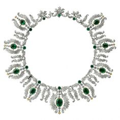 Imperial diamond and emerald necklace | More here: http://mylusciouslife.com/photo-galleries/bling-fling/