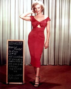 Marilyn Monroe Niagara Dress Hot Pink or Red Tie by Morningstar84, $165.00