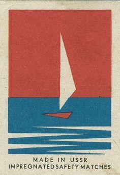 Russian matchbox label by Shailesh Chavda. Japanese Graphic Design, Vintage Graphic Design, Graphic Design Illustration, Graphic Art, Character Illustration, Vintage Designs, Vintage Packaging, Vintage Labels, Vintage Posters