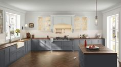 I created this Tailored Traditional kitchen using Design By What Matters by Benjamin Moore. What's your design personality? #BenjaminMoore #DBWM