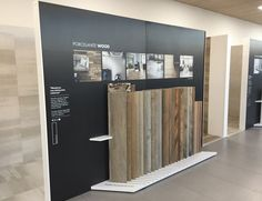 Fantastic work made by our customers in Cornellá de Llobregat (Barcelona) Our collections looks very stylish! Wood Display, Display Design, Booth Design, Store Design, Tile Showroom, Showroom Design, Pos Design, Retail Design, Wood Parquet