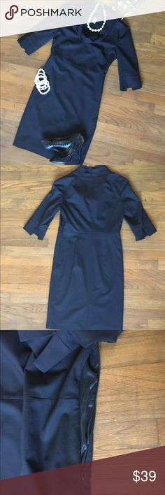 """J. Crew Tailored Wool Cowl Neck Dress, 3/4"""" sleeve J. Crew Tailored Wool Cowl Neck Dress 👗NWOT - """"O"""" so Jackie! This dress has classic elegance. You will get respect wherever you go in it! Tailored bust, princess waistline, 3/4"""" sleeves with small slits, side zipper enclosure, knee length (just above). PRICED FOR OFFERS! J. Crew Dresses"""