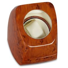 The Bi-Directional Interval Watch Winder - Hammacher Schlemmer - This watch winder allows you to ensure that a self-winding wristwatch will keep accurate time even if it is not worn regularly.