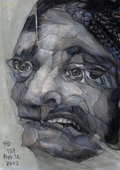 by Takahiro Kimura Portrait Paintings, Art Sketchbook, Mixed Media Art, Collage Art, New Art, Art Projects, Opera, Drawings, Face