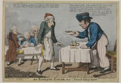 An English sailor at a French Eating House   ca. 1805