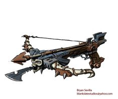 Crossbow Concept Art by Bogata.deviantart.com on @DeviantArt
