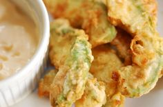 Avocado Fries - use almond flour and cream to make low carb