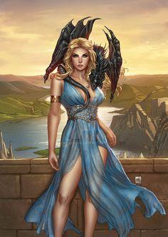 Mother of Dragons by Kromespawn.deviantart.com on @DeviantArt - More at https://pinterest.com/supergirlsart #female #fantasy #art
