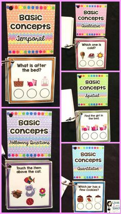 Grab N' Go Basic Concepts {Temporal, Qualitative, Quantitative, Spatial}