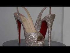 c4f9d62ca Christian Louboutin Custom Strass   TyyonCustoms.Com. Gold WeddingDesigner  ShoesSwarovski ...