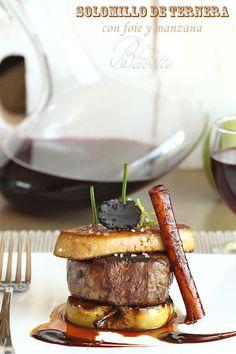 Solomillo de ternera con foie y manzana braseadaBavette | Bavette