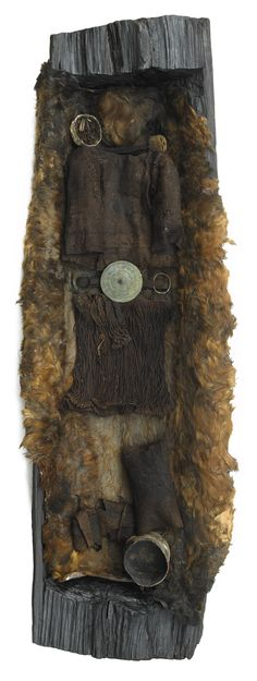 DNA reveals the most Danish of Danish Icon to be of foreign origin - Danes are in schock and some immediately demand she be returned to her land of origin. The Egtved Girl [ˈɛɡtʋɛð] (c. 1390–1370 BC) was a Nordic Bronze Age girl whose well-preserved remains were discovered outside Egtved, Denmark in 1921. Aged 16–18 at death, she was slim, 160 cm tall (about 5 ft 3 in), had short, blond hair and well-trimmed nails.[1] Her burial has been dated by dendrochronology to 1370 BC. She was…