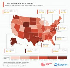 Average Debt in Largest Metropolitan Areas [Infographic] | Experian News Blog