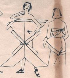 Looks like a fun jumpsuit pattern to try, basically just two giant triangles and some trim...