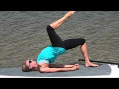 Paddle board yoga. We have 2 Melissa! One of these days you will come over and play!