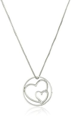 """Sterling Silver Double-Heart """"Aunts Like You"""" Pendant Necklace, 18"""" -- Check this awesome product by going to the link at the image."""