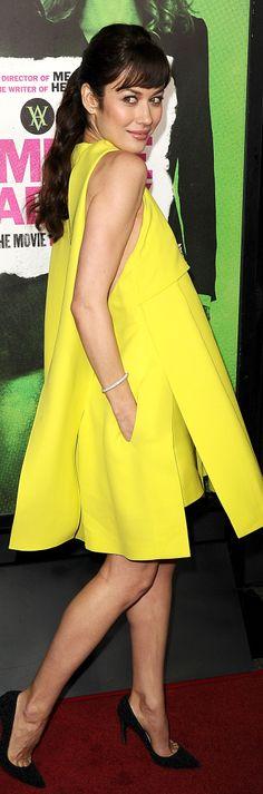 Olga Kurylenko in Dior Haute Couture.