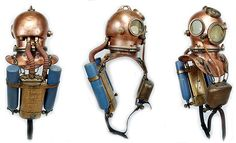 Diving Helmet, Diving Suit, Scuba Diving Equipment, Scuba Diving Gear, Pesca Sub, Sea Costume, Military Robot, Comic Clothes, Steampunk