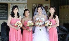 Beautiful bride and bridesmaids, wedding day inspiration, beautybyjill bride